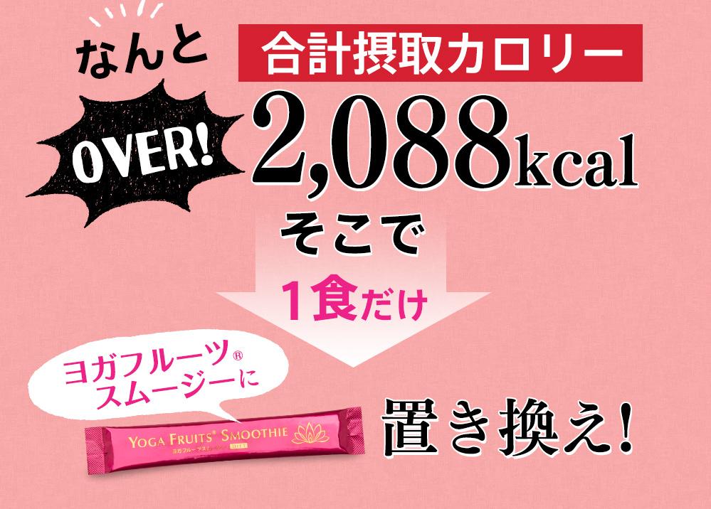 なんと合計摂取カロリー2088kacl