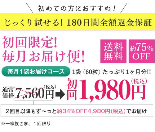 初回限定!毎月お届け便!初回1,980円