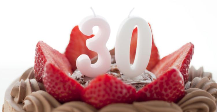 30歳の誕生日ケーキ
