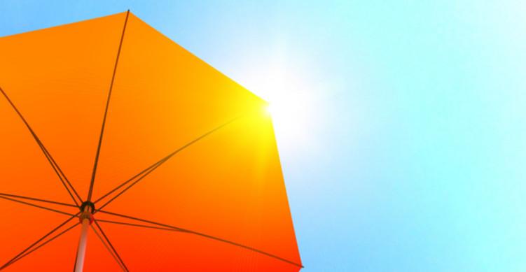 日傘と太陽
