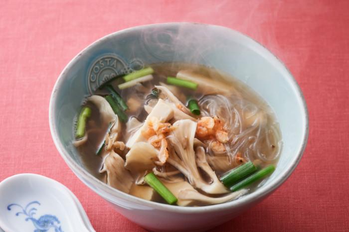 舞茸と干し海老のスープ