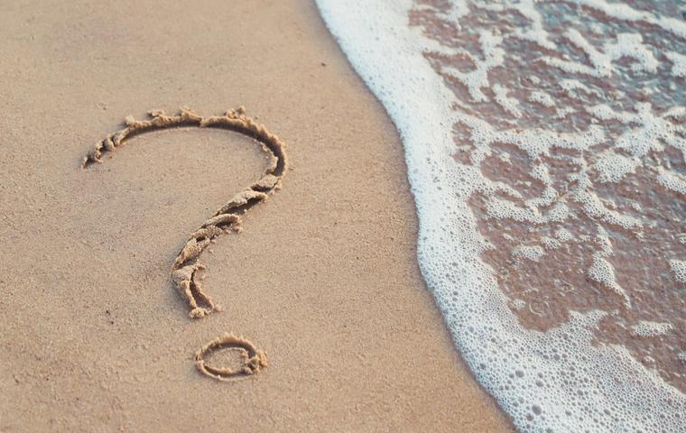 砂浜 疑問
