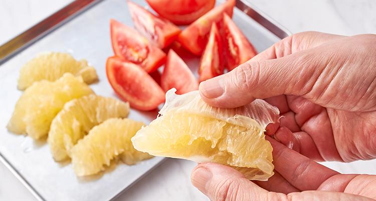 トマトとグレープフルーツ