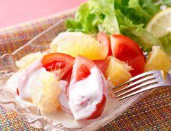 トマトとグレープフルーツの美容サラダ