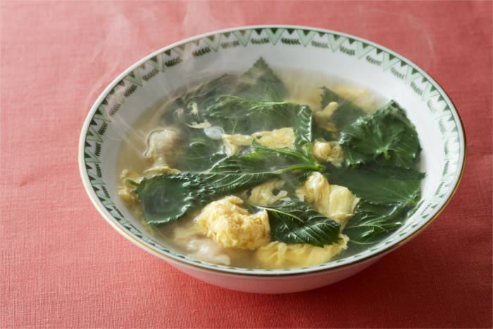 モロヘイヤと卵のスープ