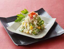 食物繊維たっぷりおからのカラフルサラダ